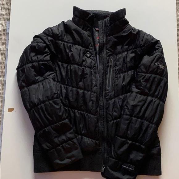 Columbia titanium short puffer winter jacket